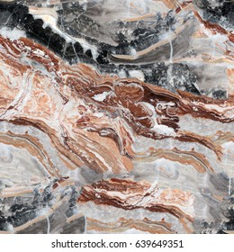 Multicolored marble texture for design. Seamless square background, tile ready.