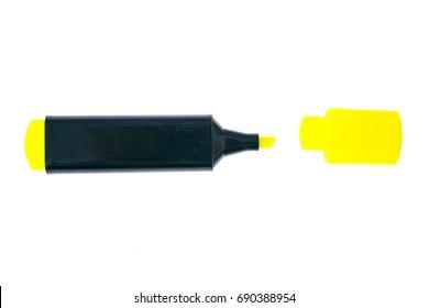 Multicolored markers on white. Studio Photo
