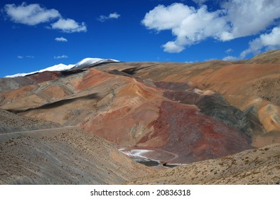 Multicolored  Mountain in the Depth of Tibet