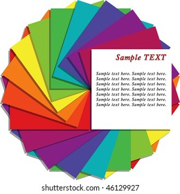 Multicolored note sheets with copy space for your text, vector version is also available