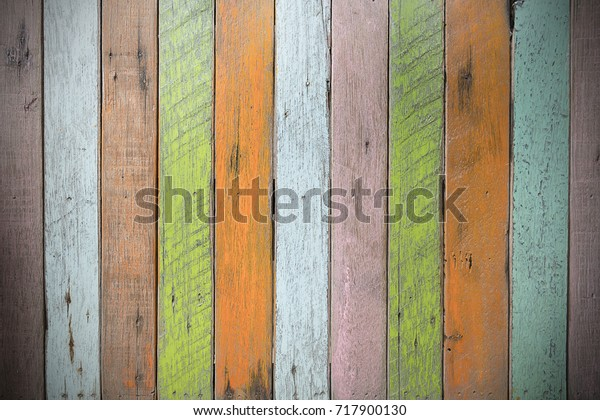 Multicolored Old Wooden Floor Multicolored Wood Stock Photo