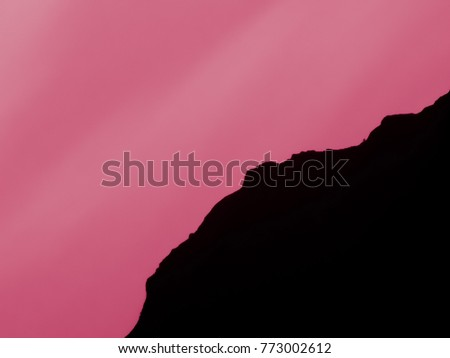 multicolored outline mountains magnificent natural scenery stock