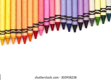 Multicolored pensils set isolated on white background