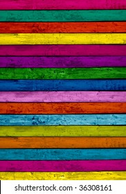 Multi-Colored Planks Background