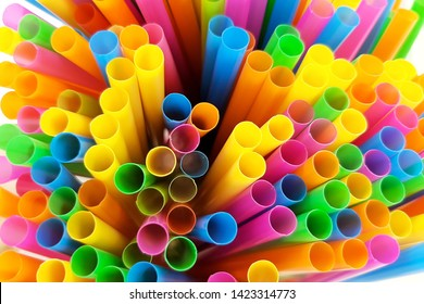Multi-colored plastic suction tube Used and should not be used again.