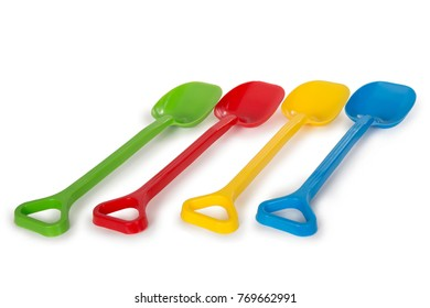 Multicolored plastic toys