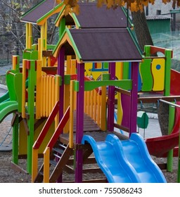 multi-colored playground for children