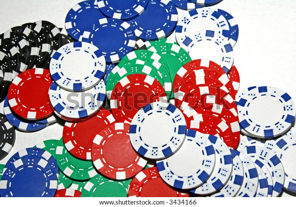 Multi-Colored Poker Chips
