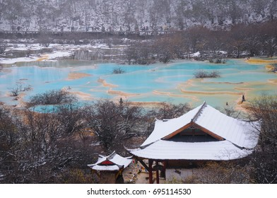 multicolored ponds,China in late October,UNESCO world heritage