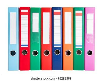 multicolored ring binders