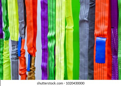 Multicolored of safety sling, Sling for industrial use during safety on industrial factory, construction and logistics