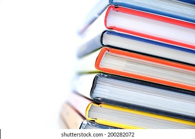 Multicolored stacked books