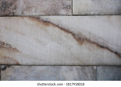 multicolored striations within white marble