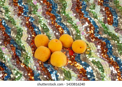 multicolored texture with organic apricots