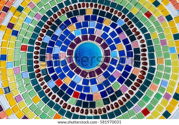Multicolored tiles