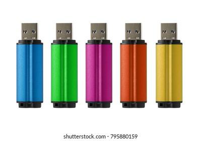 Multicolored USB flash drive