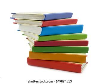 Multi-coloured books . The School
