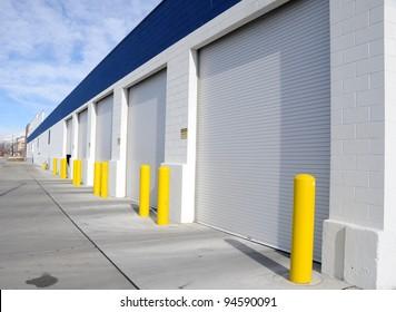 Multi-Door Garage in Industrial Area