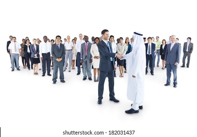 Multi-ethnic and Diverse Business People Shaking Hands