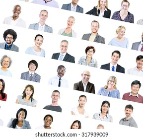 Multiethnic Diverse Ethnic Business Collaboration Concept