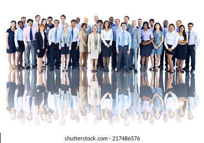 Multiethnic Group of Business People Isolated