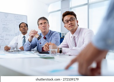 Multi-ethnic group of business people at the meeting