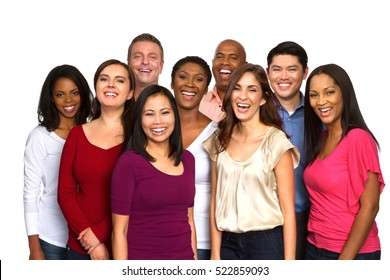Multiethnic group of people.