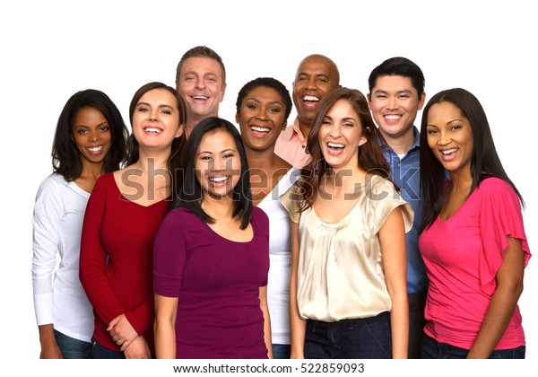 Multiethnic group of people.
