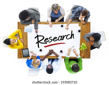 Multi-Ethnic Group of People with Research Concept