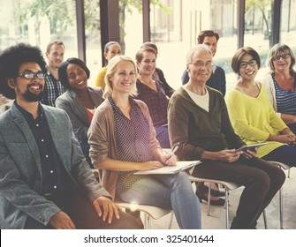 Multi-Ethnic Group of People in Seminar Concept