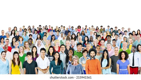 Multiethnic Group of People Smiling