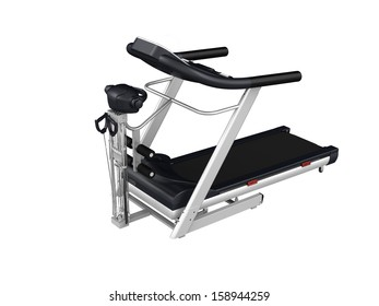 Multifunction treadmill isolated on white background