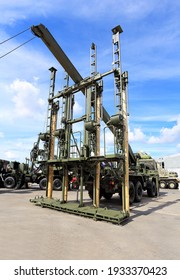 Multifunctional army field sawmill complex - a car, a crane and a set of electric tools