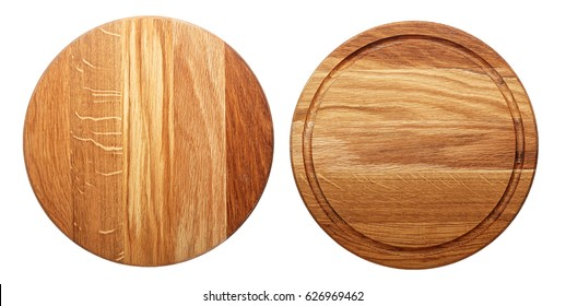 multifunctional circular wooden cutting board for cutting bread, pizza or steak serve