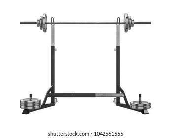 Multifunctional gym machine, back view isolated on white background. 3D Rendering, Illustration.