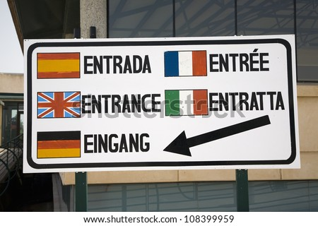 Multi-language sign