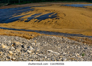 multilayered underground waterproofing in the construction of a reservoir for the primary treatment of sewage sludge
