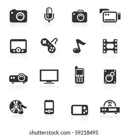 Multimedia  icons - minimo series