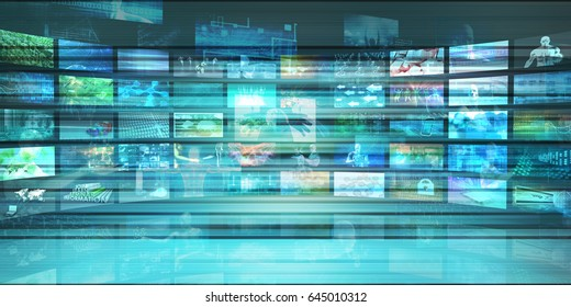 Multimedia Tracking and Competitive Analysis of Entertainment Technology 3D Illustration Render