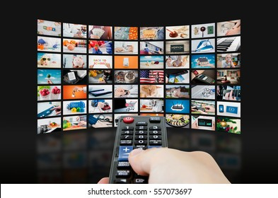 Multimedia video wall television broadcast. multimedia wall television video broadcast advertising background broadcasting concept
