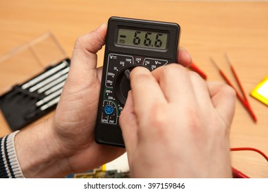 Multimeter in the hands of a master.