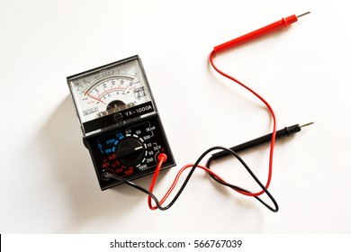 Multimeter, voltmeter on a white background