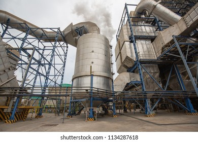 Multiple biomass power plant  from cane pulp destroys silo smokestacks Emit Carbon Dioxide Pollution