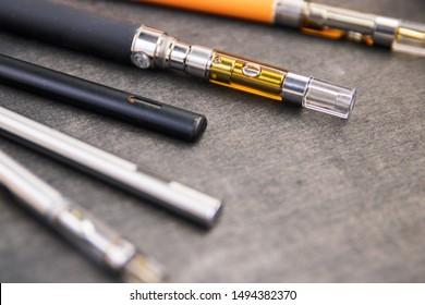 Multiple Cannabis Oil Distillate Filled Vape Pens