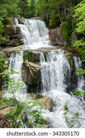The multiple cascades of lovely Katahdin Stream Falls, Baxter State Park, Maine, USA