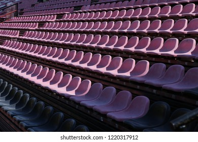 multiple chairs in sport stadium