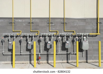 Multiple commercial Gas meters