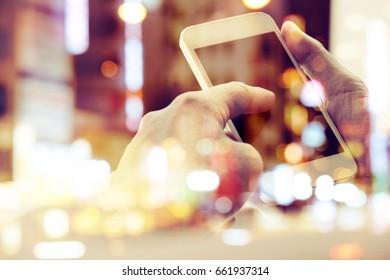 Multiple exposure of smart phone,Social networking