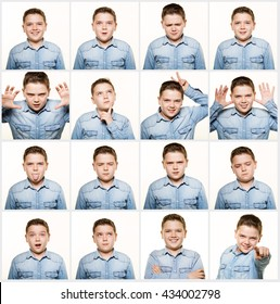 Multiple image facial expressions.