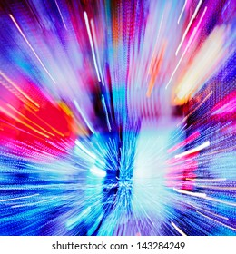 Multiple lights blur zoom abstract background